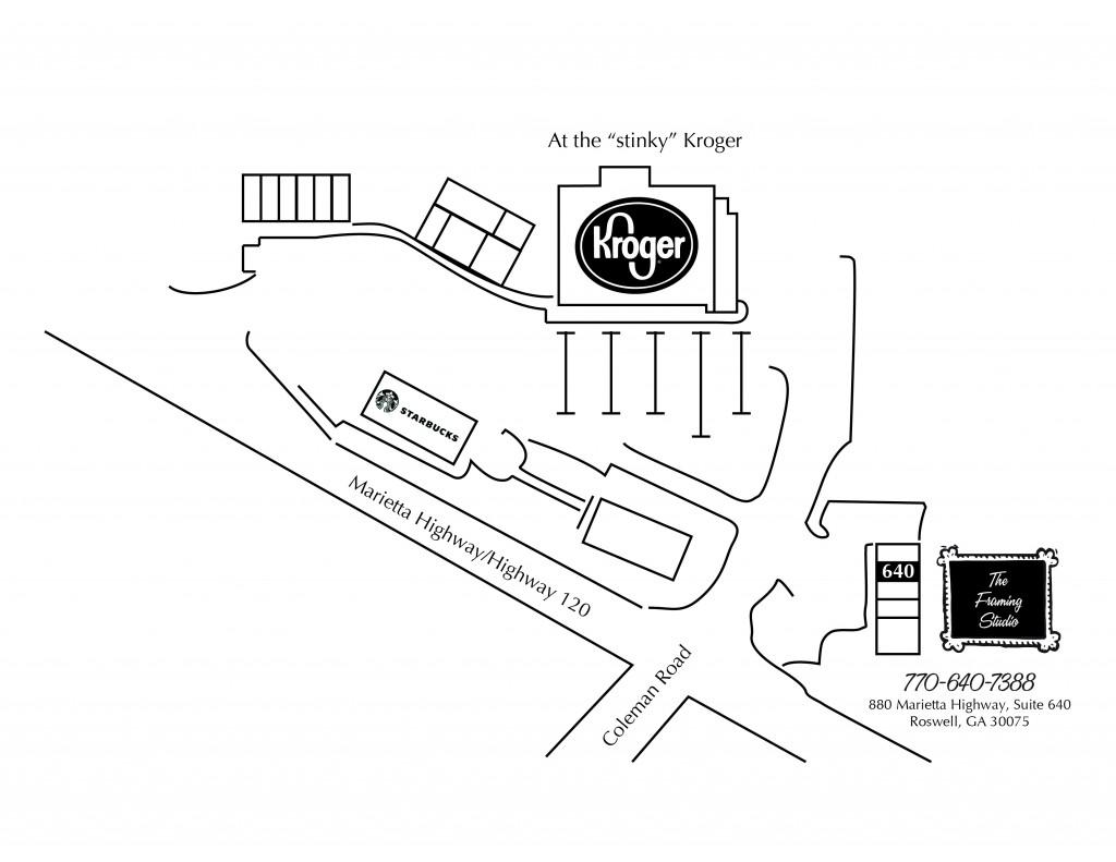 framing studio map