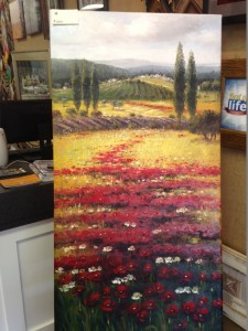 24x48 Poppies on Canvas - $600