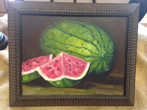 18x14 Summker Watermelon - $150